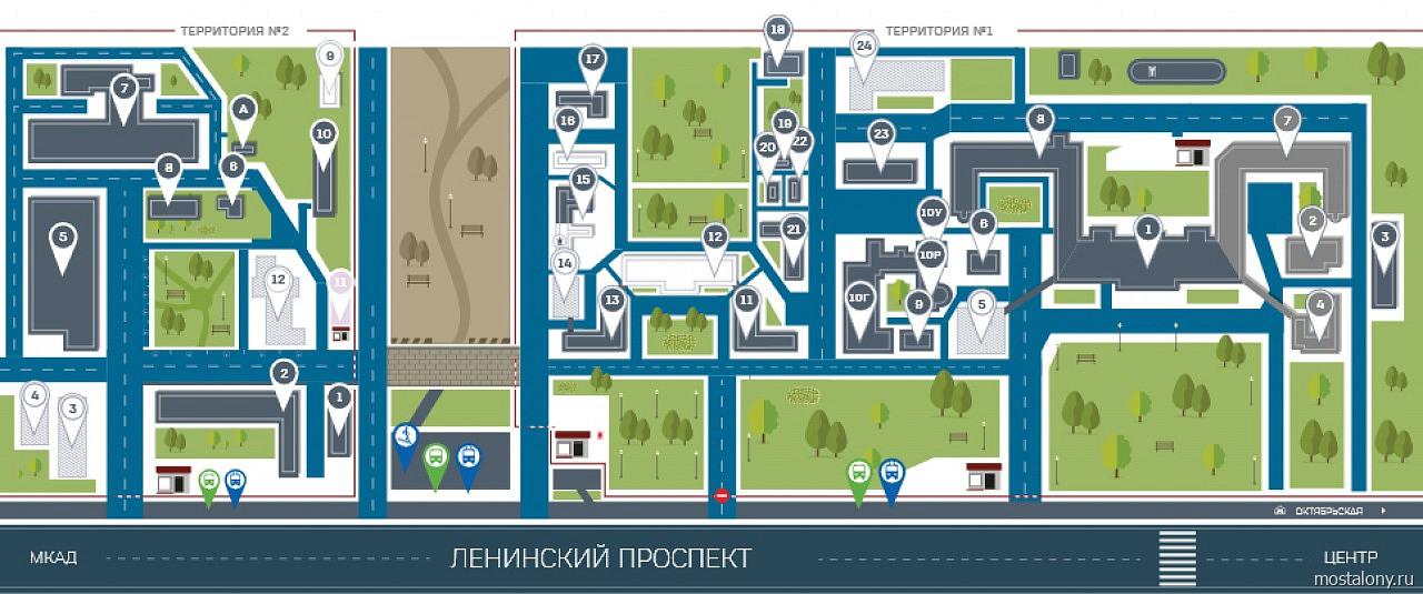 Фото: Карта территории больницы